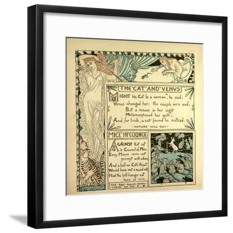 The Cat and Venus Mice in Council--Framed Art Print