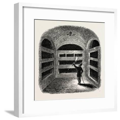 A Cubiculum with Tombs Rome Italy--Framed Art Print
