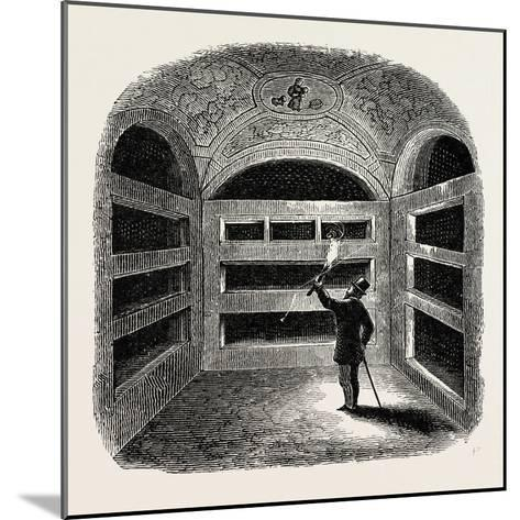 A Cubiculum with Tombs Rome Italy--Mounted Giclee Print