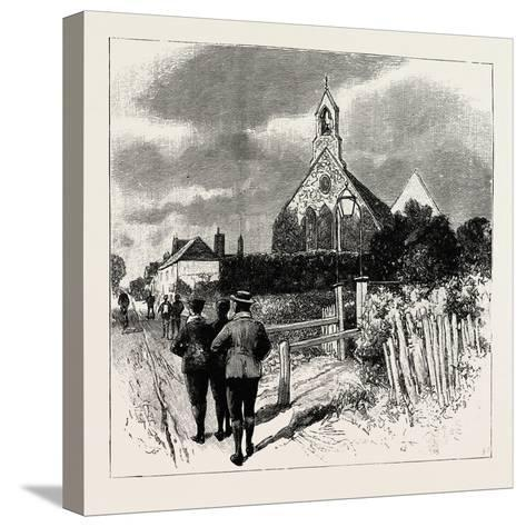 The Church at Which the Cyclists' Service Is Held--Stretched Canvas Print