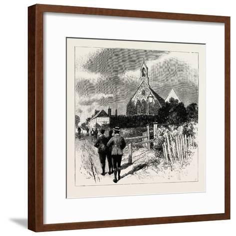 The Church at Which the Cyclists' Service Is Held--Framed Art Print