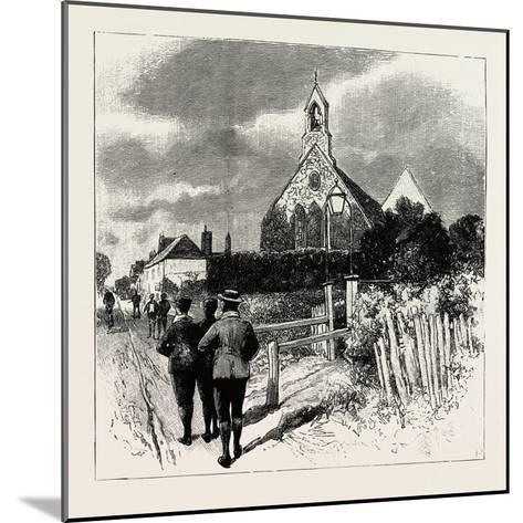 The Church at Which the Cyclists' Service Is Held--Mounted Giclee Print