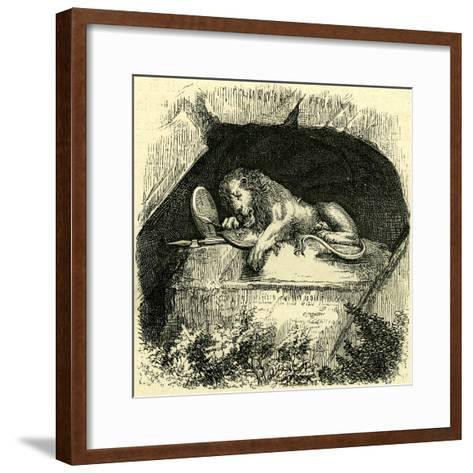 Monument to the Swiss Guard Switzerland--Framed Art Print
