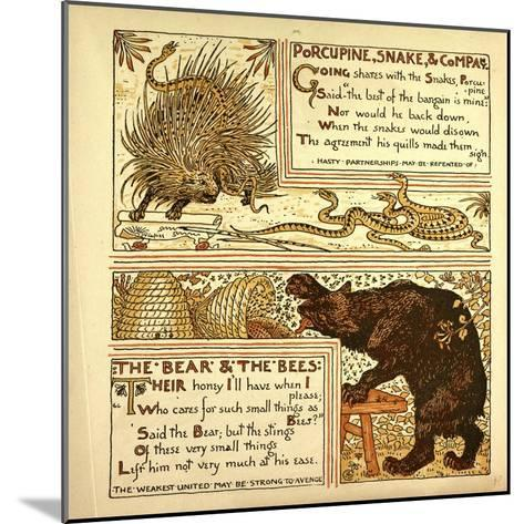 Porcupine Snake and Company the Bear and the Bees--Mounted Giclee Print