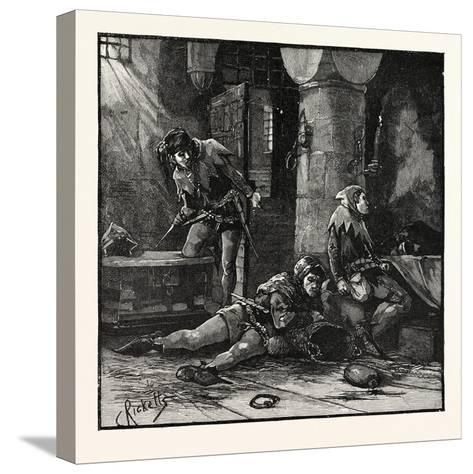 Escape of Roger Mortimer from the Tower--Stretched Canvas Print