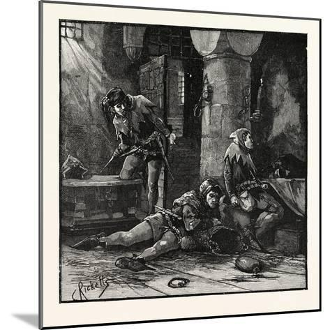 Escape of Roger Mortimer from the Tower--Mounted Giclee Print