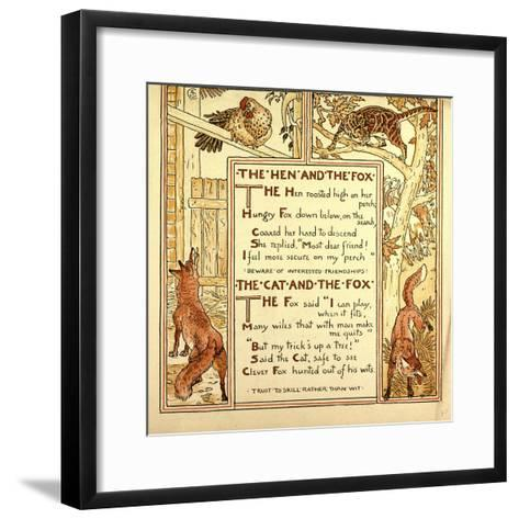 The Hen and the Fox the Cat and the Fox--Framed Art Print
