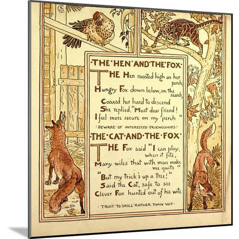 The Hen and the Fox the Cat and the Fox--Mounted Giclee Print
