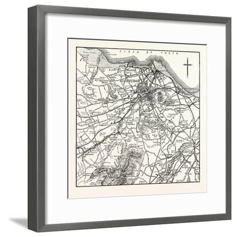 Map of the Environs of Edinburgh--Framed Art Print