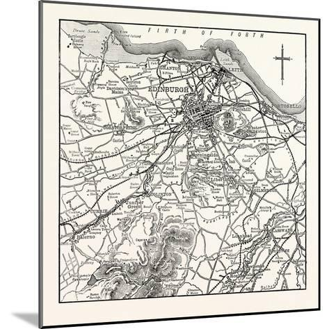 Map of the Environs of Edinburgh--Mounted Giclee Print
