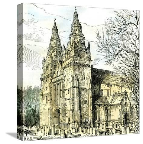 Aberdeen Old Machar Cathedral 1885, UK--Stretched Canvas Print