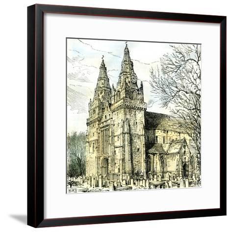 Aberdeen Old Machar Cathedral 1885, UK--Framed Art Print