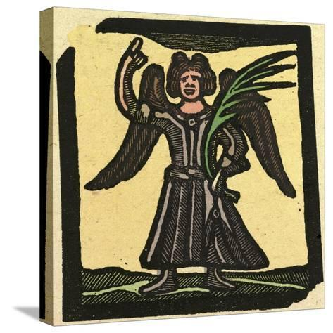 Illustration of English Tales Folk Tales and Ballads, an Angel--Stretched Canvas Print