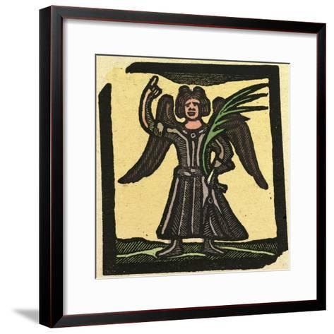 Illustration of English Tales Folk Tales and Ballads, an Angel--Framed Art Print