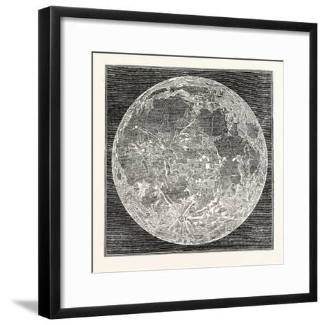Telescopic Appearance of the Moon 1833--Framed Art Print