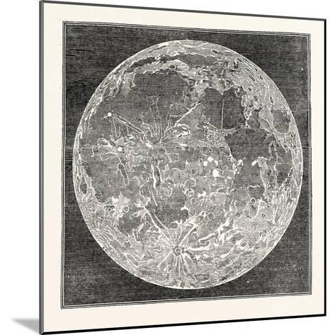 Telescopic Appearance of the Moon 1833--Mounted Giclee Print