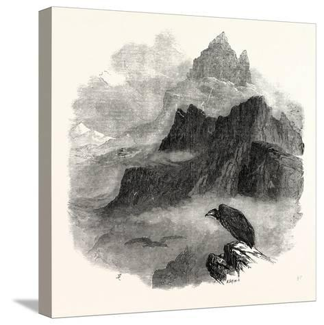 Summit of the Pic Du Midi D'Osseau Pyrenees 1854--Stretched Canvas Print
