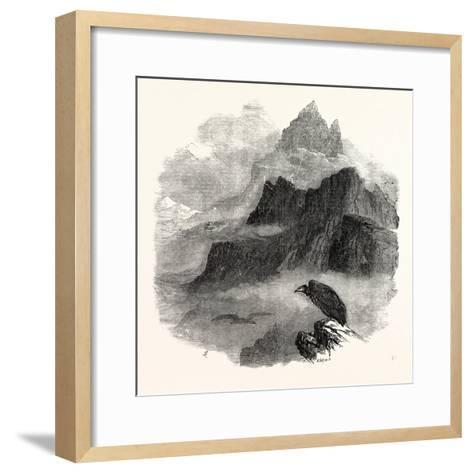 Summit of the Pic Du Midi D'Osseau Pyrenees 1854--Framed Art Print