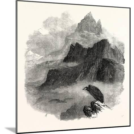 Summit of the Pic Du Midi D'Osseau Pyrenees 1854--Mounted Giclee Print