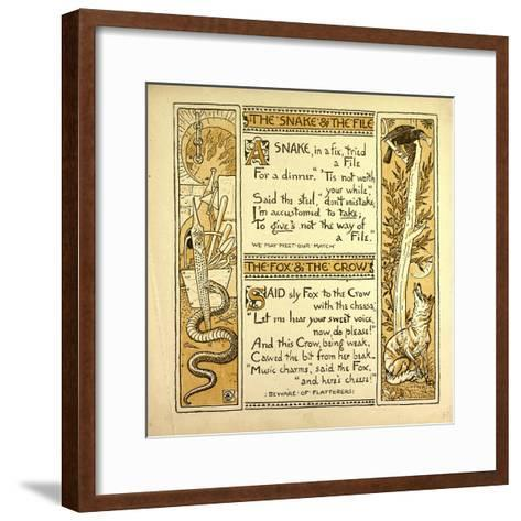 The Snake and the File the Fox and the Crow--Framed Art Print