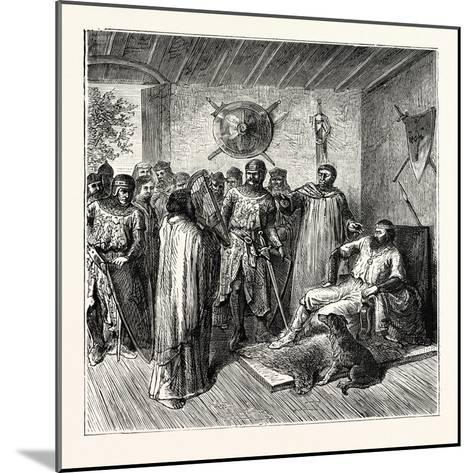 The Harper in the Baron's Hall 12th Century--Mounted Giclee Print