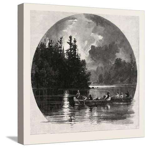 On French River, Canada, Nineteenth Century--Stretched Canvas Print