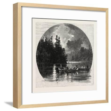 On French River, Canada, Nineteenth Century--Framed Art Print