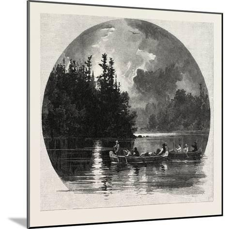On French River, Canada, Nineteenth Century--Mounted Giclee Print