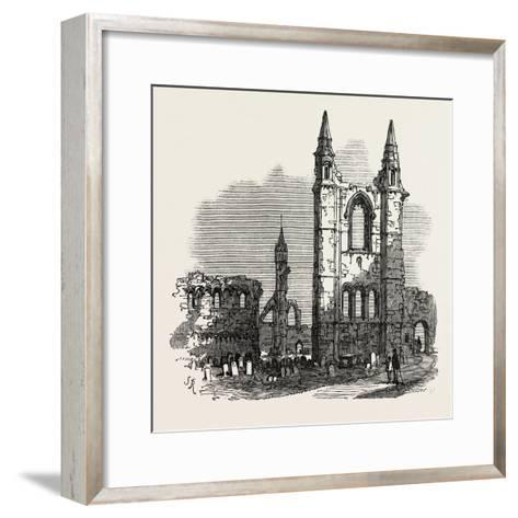 The British Association at Dundee: Cathedral of St. Andrew's, UK, 1867--Framed Art Print