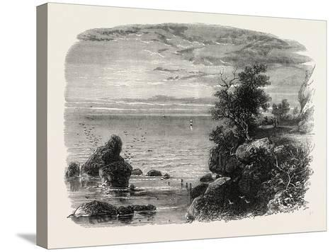 View on the Coast of Massachusetts, USA, 1870s--Stretched Canvas Print