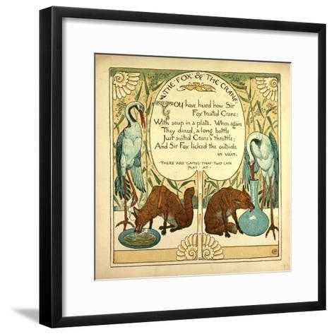 The Fox and the Crane--Framed Art Print