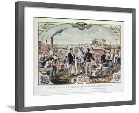 By Industry We Thrive, Published by Kimmel and Voigt, 1873--Framed Art Print