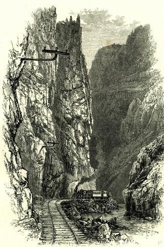 The Royal Gorge of the Arkansas, 1891, USA--Stretched Canvas Print