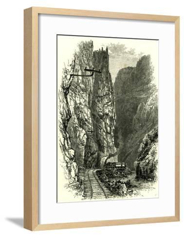 The Royal Gorge of the Arkansas, 1891, USA--Framed Art Print