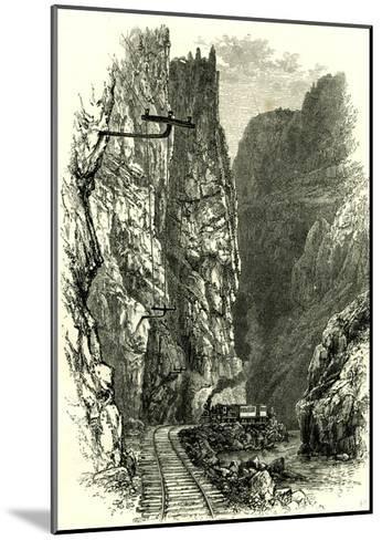 The Royal Gorge of the Arkansas, 1891, USA--Mounted Giclee Print