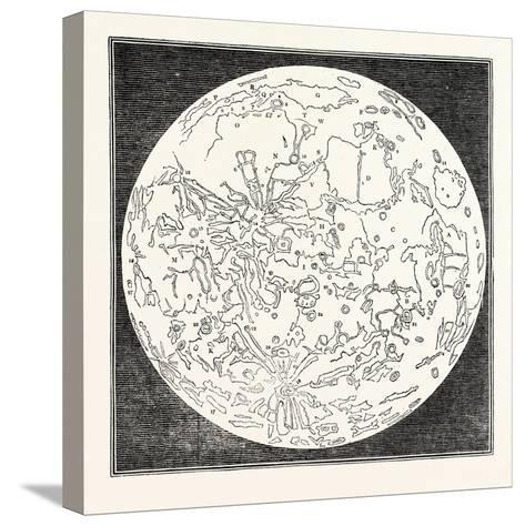 Map of the Moon 1833--Stretched Canvas Print