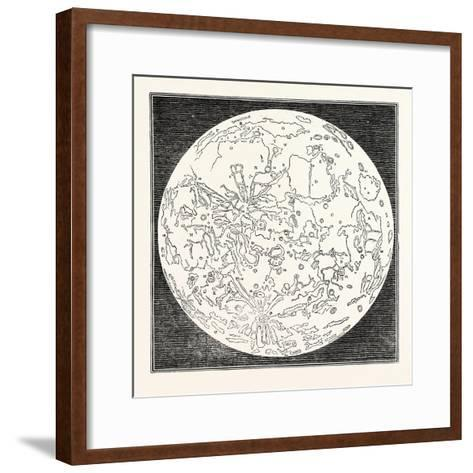 Map of the Moon 1833--Framed Art Print