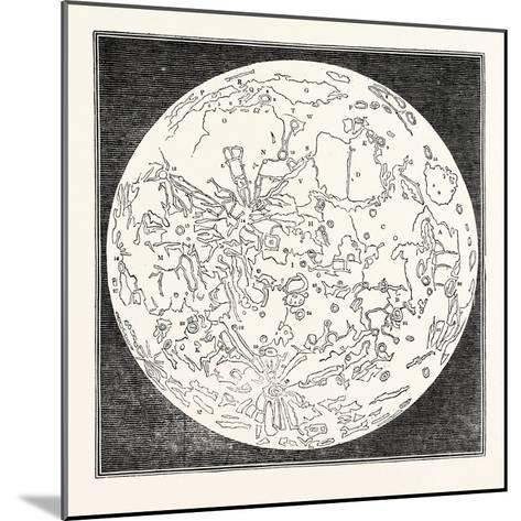 Map of the Moon 1833--Mounted Giclee Print