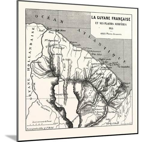 French Guiana, 1855--Mounted Giclee Print