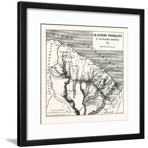 French Guiana, 1855--Framed Art Print