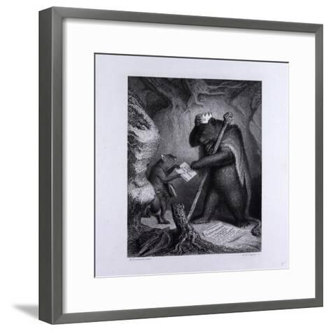 Bruin as King--Framed Art Print