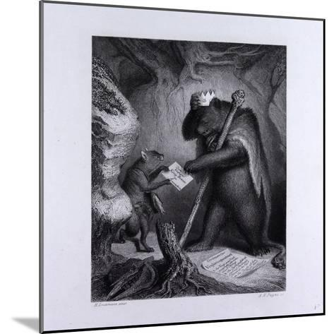Bruin as King--Mounted Giclee Print