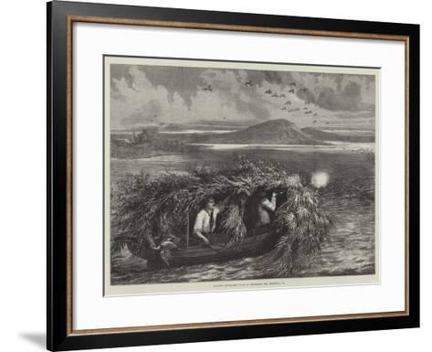 Shooting Canvas-Back Ducks in Chesapeake Bay, Maryland, US--Framed Art Print