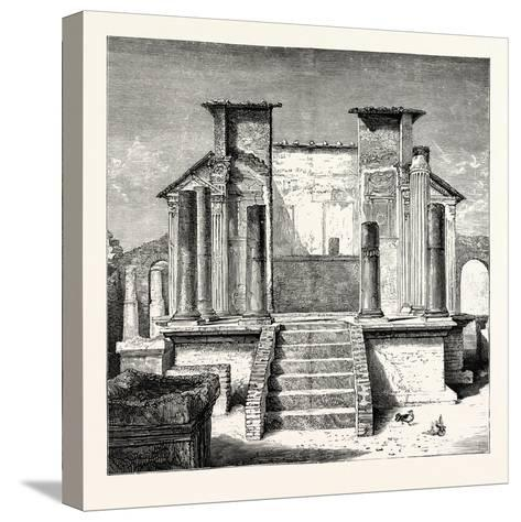 The Temple of Isis Pompeii--Stretched Canvas Print