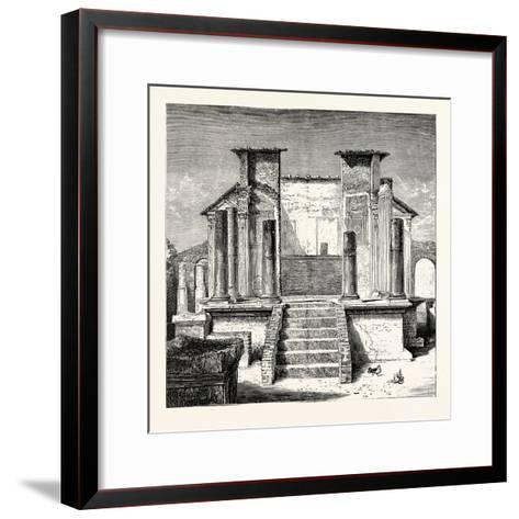 The Temple of Isis Pompeii--Framed Art Print