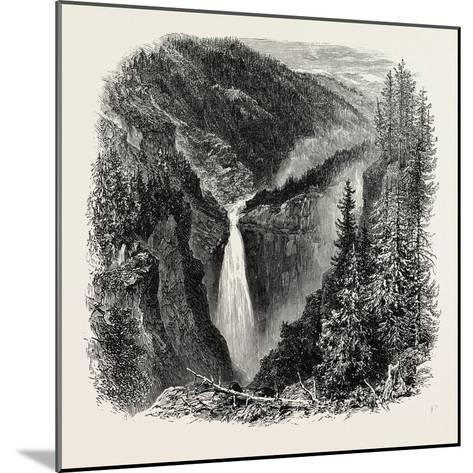 The Rjukanfos--Mounted Giclee Print