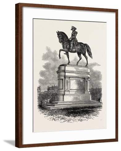 Statue of Washington at Boston, USA, 1870S--Framed Art Print