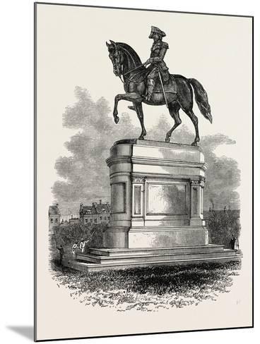Statue of Washington at Boston, USA, 1870S--Mounted Giclee Print