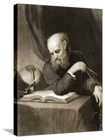 Galileo with Compass and Diagrams, C.1880--Stretched Canvas Print