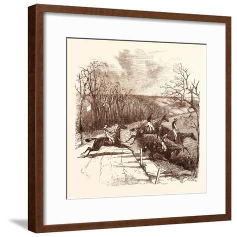 Steeple Chasing--Framed Art Print